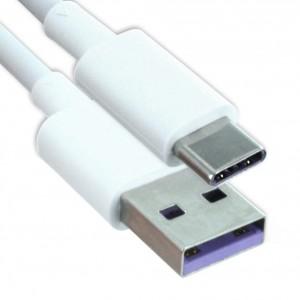 Original Huawei AP71 Schnell Ladekabel /  Datenkabel USB Typ C Weiss