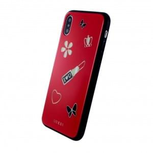 Guess Iconic Hardcover für Apple iPhone X Rot