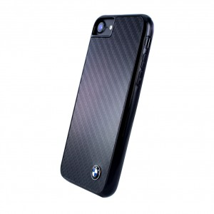 BMW Carbon Fiber Hardcover für Apple iPhone 8 / 7 Schwarz