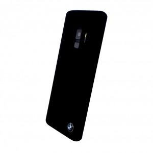 BMW Silikon Fiber Cover für Samsung Galaxy S9 Schwarz