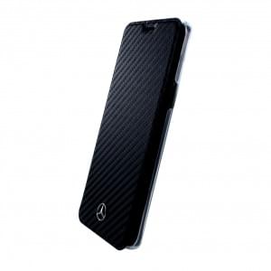 Mercedes Benz Dynamic Carbon Book Cover für Samsung Galaxy S9 Schwarz