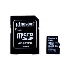 Kingston 16GB MicroSDHC Speicherkarte/ SD Karte + SD Adapter Klasse 10 Universal