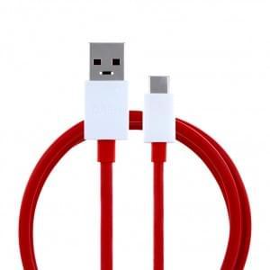 Original HTC D301 Dash Schnellladekabel / Datenkabel USB auf USB Typ C 1m Rot