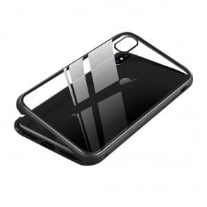 Magnet Hülle für Apple iPhone X / Xs Schwarz