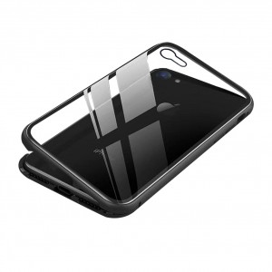 Magnet Hülle für Apple iPhone 8 Plus / 7 Plus Schwarz