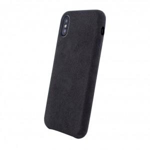 Dual Alcantara exklusive Hard Case für iPhone X / Xs Schwarz