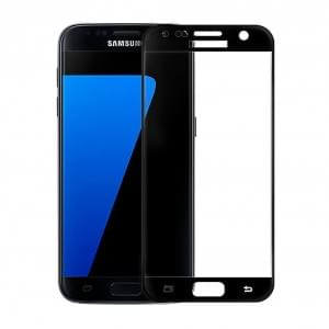 Samsung Galaxy S7 3D Glas Displayschutz / Displayschutzfolie - Schwarz