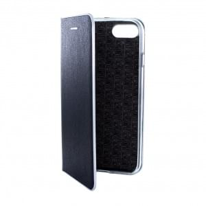 Helm Premium - Kunstleder Handytasche - Apple iPhone 8 / 7 - Schwarz