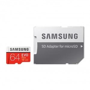 Samsung EVO Plus microSD Karte + SD Adapter 64GB  Universal