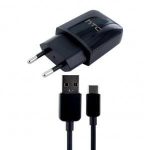 Original HTC - TC P900 - Netzteil Adapter + DC-M700 - USB Type C Ladekabel - Schwarz