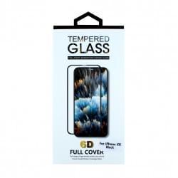 6D Displayschutzglas für iPhone XR Schwarz