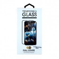 6D Displayschutzglas für iPhone XS Max - Schwarz