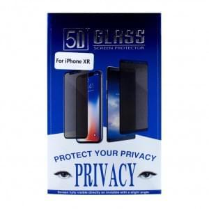 Privacy 5D Glas Displayschutzfolie für iPhone XR - Schwarz