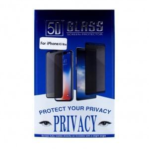 Privacy 5D Glas Displayschutzfolie für iPhone XS Max - Schwarz
