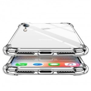Four Coners Silikon Cover / Handyhülle - iPhone XR - Transparent