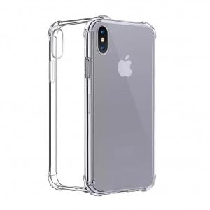 Four Coners Silikon Cover / Handyhülle - iPhone XS Max - Transparent