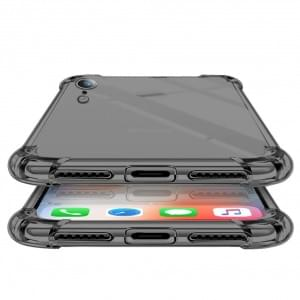 Four Coners Silikon Cover / Handyhülle iPhone XR Transparent / Schwarz
