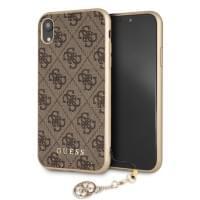 Guess Charms Schutzhülle / Hardcover 4G für iPhone XR - Braun
