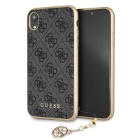 Guess Charms Hardcover 4G iPhone XR Grau