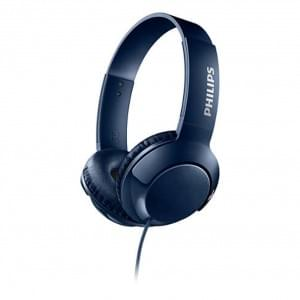 Philips SHL3070BL Bass+ On-Ear Kopfhörer - 3.5mm Anschluss - Blau