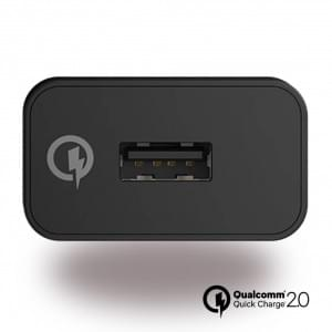 Sony Quick Charge 2.0 UCH10 / UCH12 USB Ladegerät + UCB20 / 30 USB Typ C Kabel - schwarz