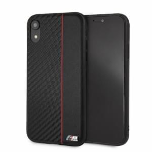 BMW M-Collection Carbon Hard Cover Bi-Material iPhone XR Rot