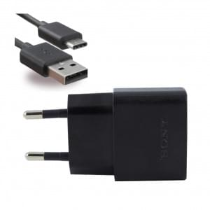 Original Sony UCH20 USB Ladegerät + UCB20 / 30 USB Typ C Kabel schwarz