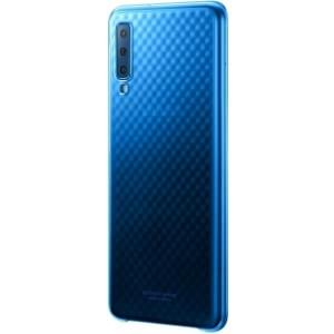 Original Samsung Gradation Cover Galaxy A7 2018 EF-AA750CLE Blau