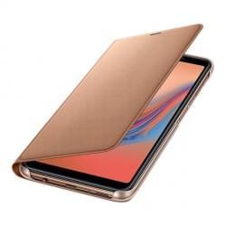 Original Samsung EF-WA750PFEGWW Wallet Cover für Galaxy A7 (2018) - Gold