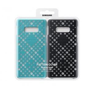 Original Samsung Pattern Cover EF-XG970CB Galaxy S10e Schwarz + Grün