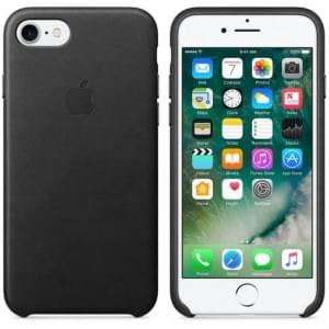Original Apple Leder Cover für iPhone 8 / 7 Schwarz MMY52FE/A