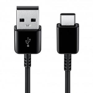 Original Samsung EP-DG970BWE Schnell Datenkabel USB auf USB Typ C 0,8m Schwarz