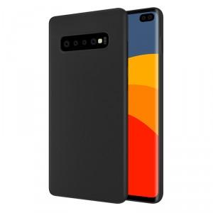 Soft Case / Handyhülle für Samsung Galaxy S10 Schwarz mit Innenfutter