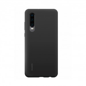Original Huawei Silikon Case / Hülle für Huawei P30 Schwarz