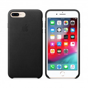 Original Apple MMYJ2ZM/A Leder Cover für iPhone 8 Plus / 7 Plus Schwarz