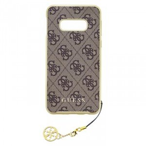 Guess Charms Hard Case / Hülle für Samsung Galaxy S10 Braun