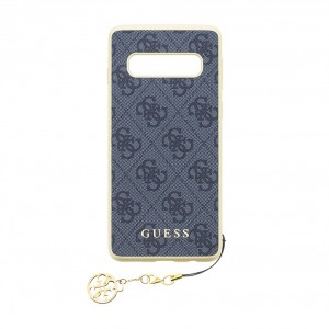 Guess Charms Hard Case 4G / Hülle für Samsung Galaxy S10 Grau