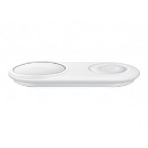 Samsung EP-P5200 Original Induktiv Qi Wireless Dual Lade Pad mit Typ C Kabel Weiß