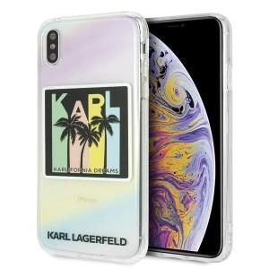 Karl Lagerfeld Karlifornia Dreams Palms Silikon Hülle iPhone X / Xs