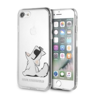 Karl Lagerfeld Choupette Fun Hülle iPhone 6 / 6s / 7 /  8 Sunglasses Transparent