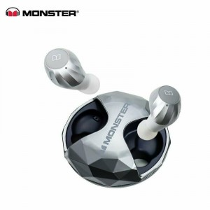 Monster Clarity HD Airlinks Bluetooth Headset Silber Kabellos in Ear-Kopfhörer High Performance