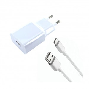 Original Xiaomi MDY-08-EO USB Ladegerät + Kabel Typ C Weiß