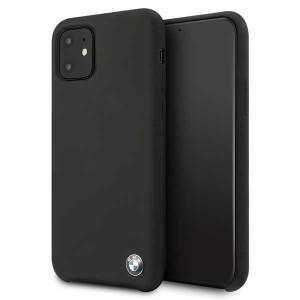 BMW Silikon Hülle iPhone 11 mit Innenfutter Schwarz