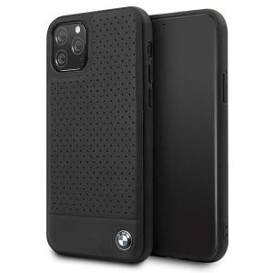 BMW Lederhülle Perforated Leder iPhone 11 Pro Echtes Leder Schwarz