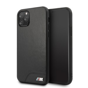 BMW M Serie Lederhülle Smooth PC iPhone 11 Pro Max Schwarz