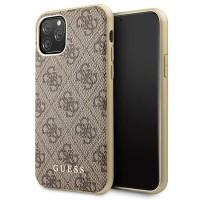 Guess Lederhülle Charms 4G Kollektion iPhone 11 Pro Braun