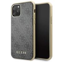 Guess Lederhülle Charms 4G Kollektion iPhone 11 Pro Grau