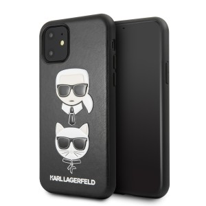 Karl Lagerfeld Choupette Embossed Hülle iPhone 11 Schwarz