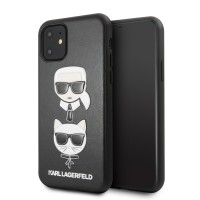 Karl Lagerfeld Choupette Embossed Hülle iPhone 11 Pro Max Schwarz