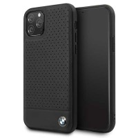 BMW Lederhülle Perforated Leder iPhone 11 Pro Max Echtes Leder Schwarz